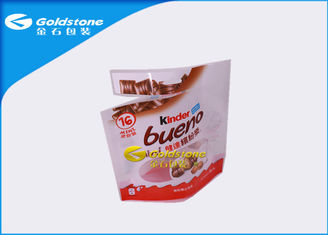 Aluminum Foil Resealable Stand Up Pouches For Chocolate Food Packaging